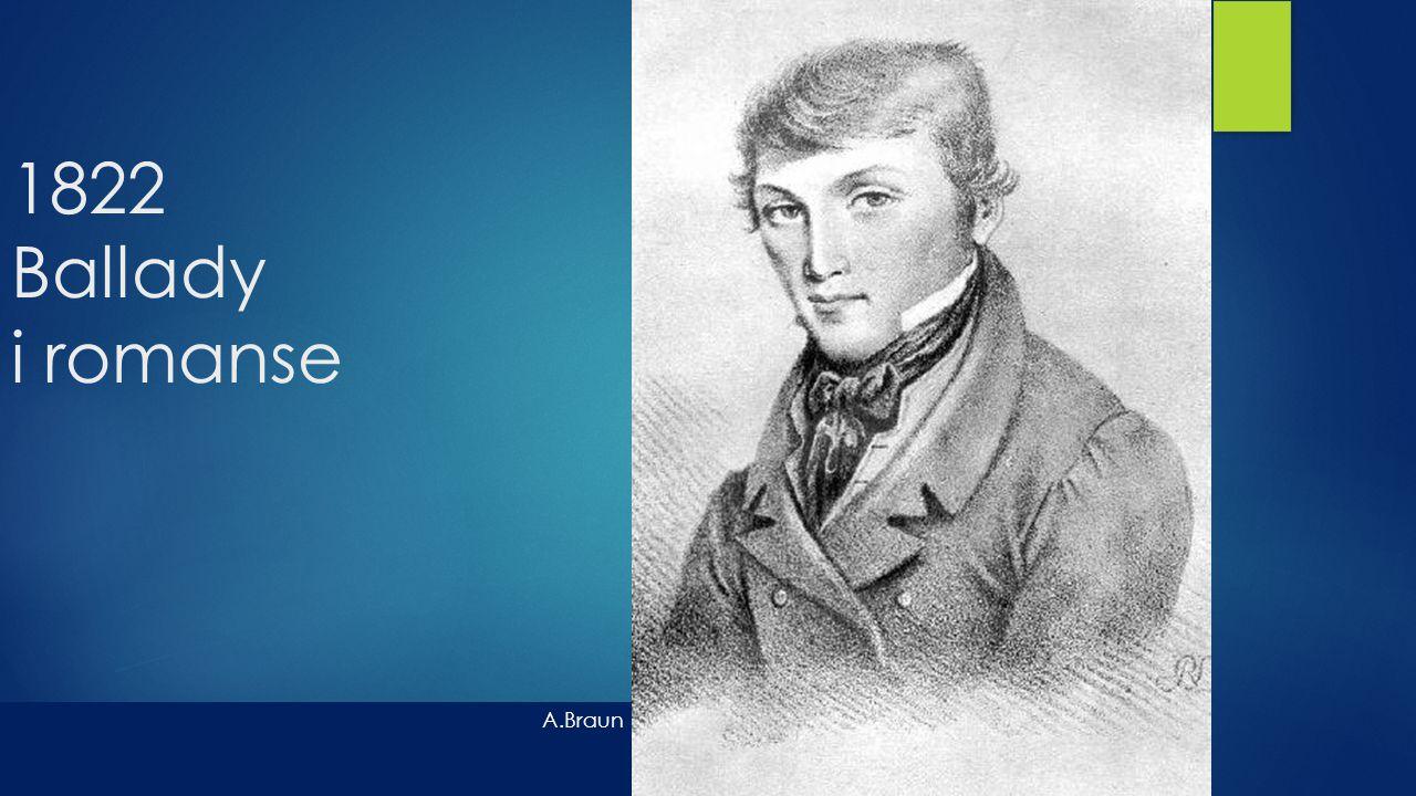 1822 Ballady i romanse A.Braun