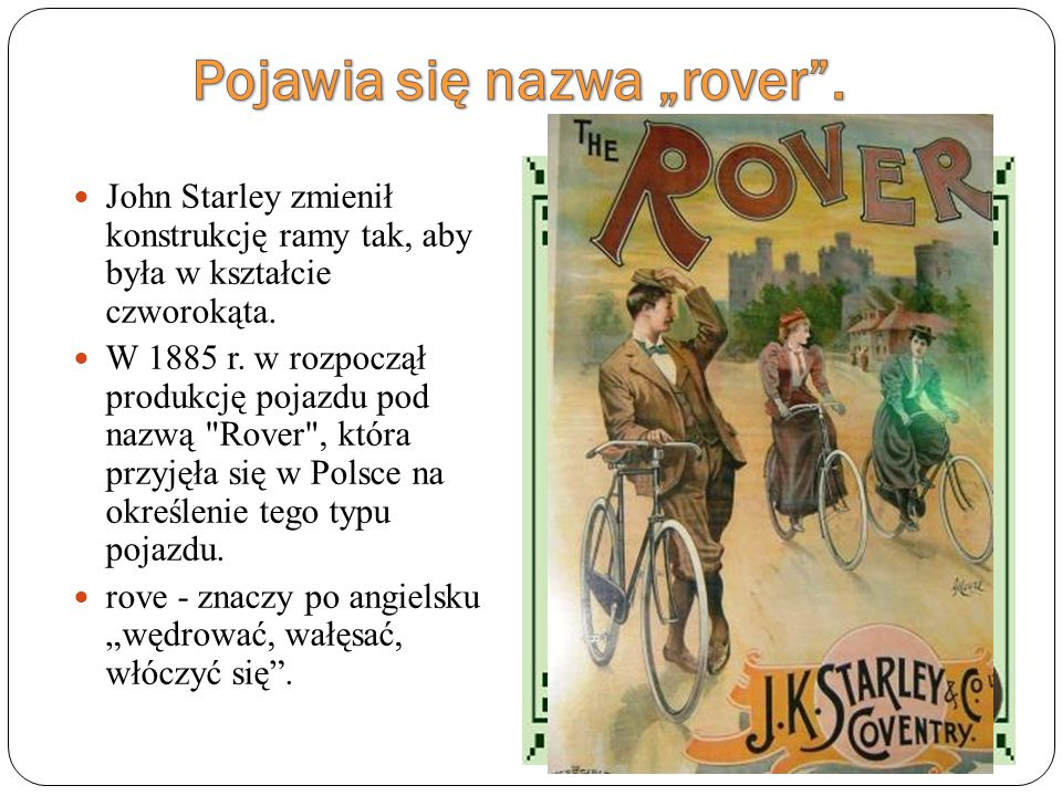 """Pojawia się nazwa """"rover ."""