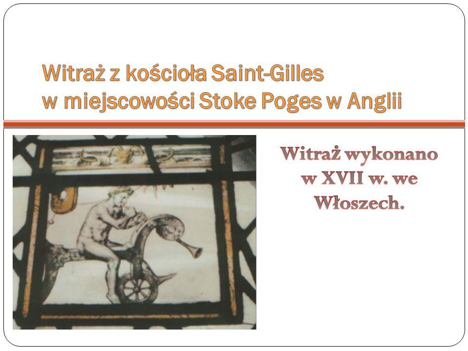 Witraż z kościoła Saint-Gilles w miejscowości Stoke Poges w Anglii