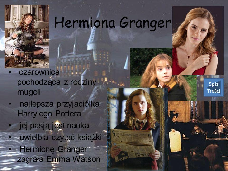 Hermiona Granger czarownica pochodząca z rodziny mugoli