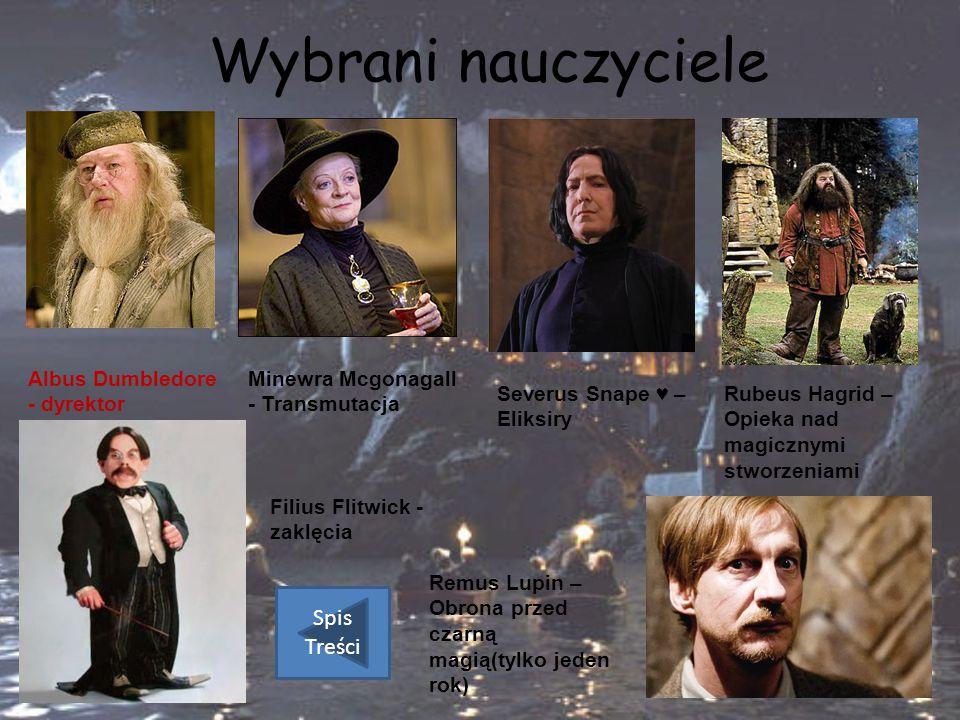 Wybrani nauczyciele Spis Treści Albus Dumbledore - dyrektor