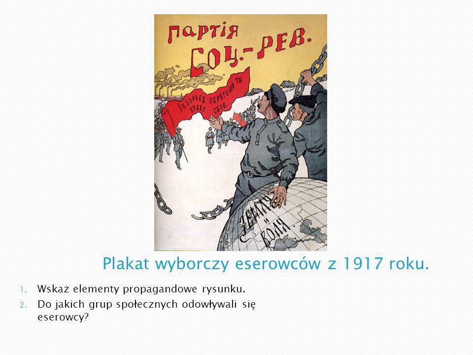 Plakat wyborczy eserowców z 1917 roku.
