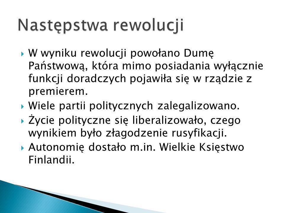 Następstwa rewolucji