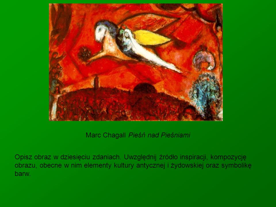 Marc Chagall Pieśń nad Pieśniami