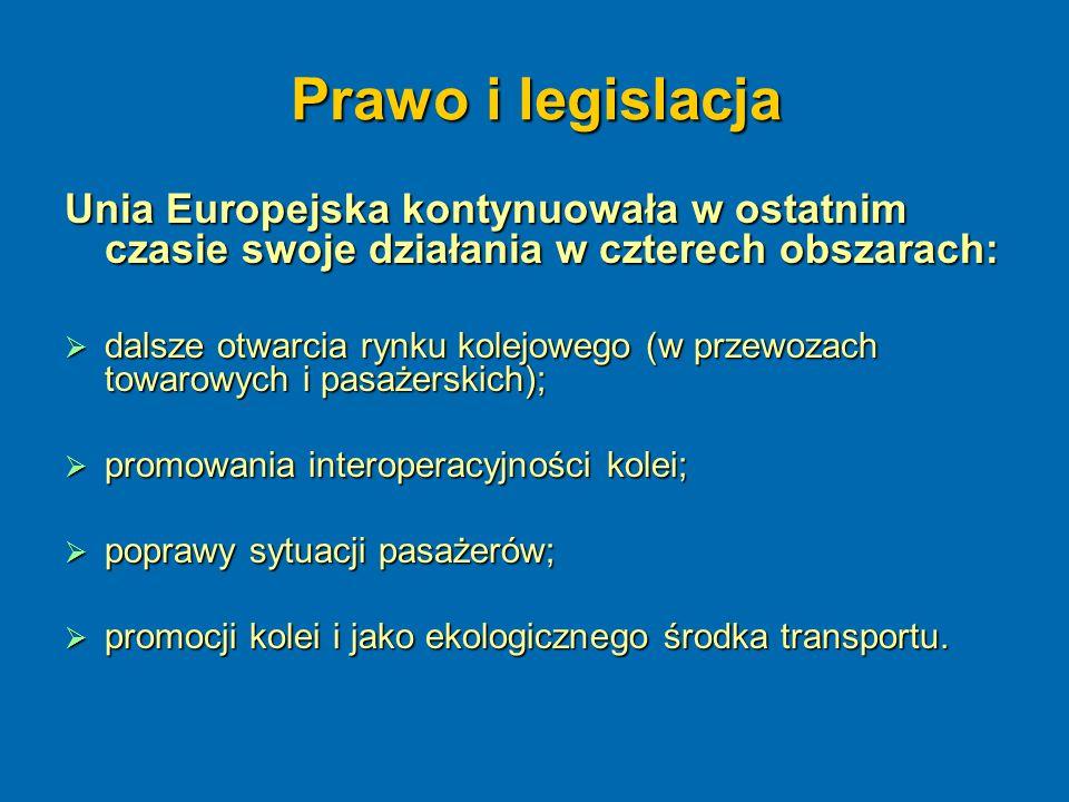 Prawo i legislacja Unia Europejska kontynuowała w ostatnim czasie swoje działania w czterech obszarach: