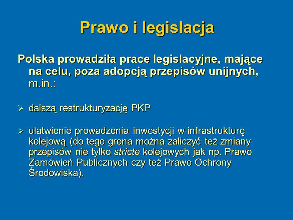 Prawo i legislacja Polska prowadziła prace legislacyjne, mające na celu, poza adopcją przepisów unijnych, m.in.: