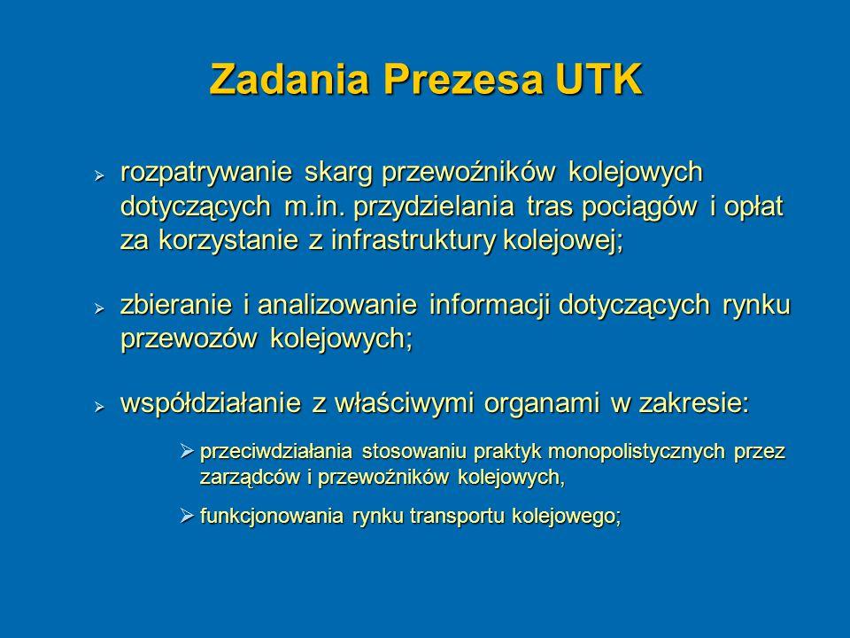 Zadania Prezesa UTK