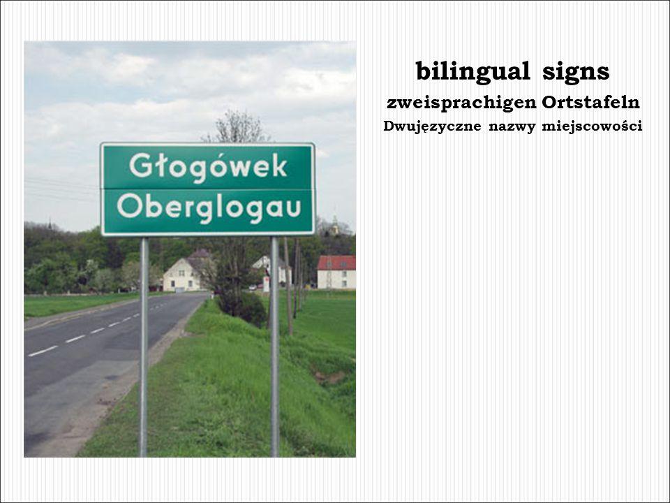zweisprachigen Ortstafeln Dwujęzyczne nazwy miejscowości