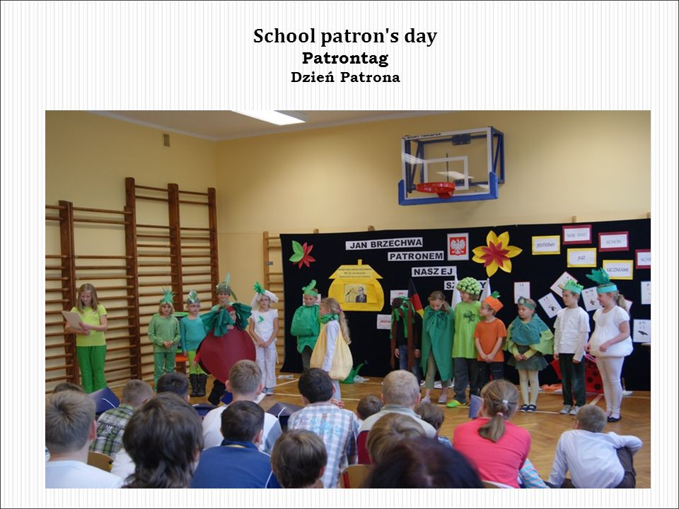 School patron s day Patrontag Dzień Patrona