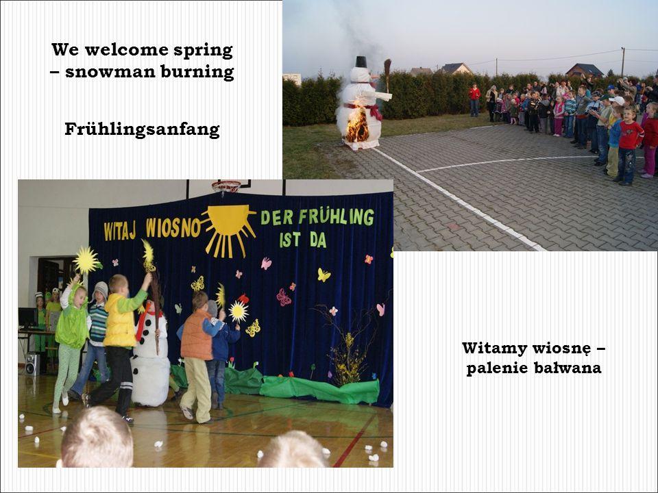 We welcome spring – snowman burning Witamy wiosnę – palenie bałwana