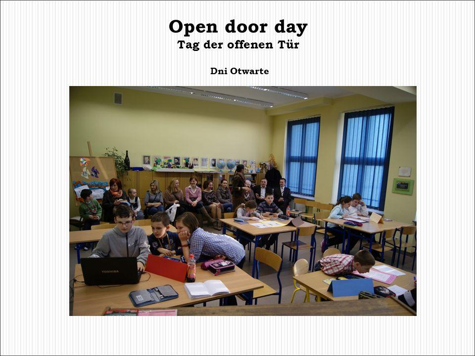 Open door day Tag der offenen Tür Dni Otwarte