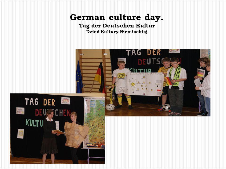 German culture day. Tag der Deutschen Kultur Dzień Kultury Niemieckiej