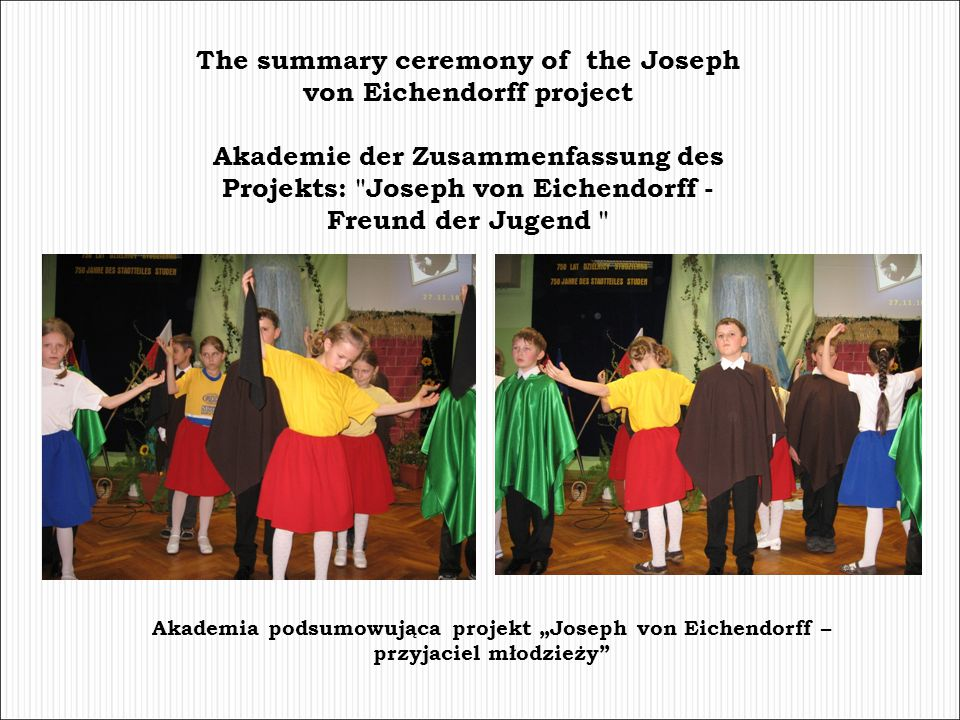 The summary ceremony of the Joseph von Eichendorff project