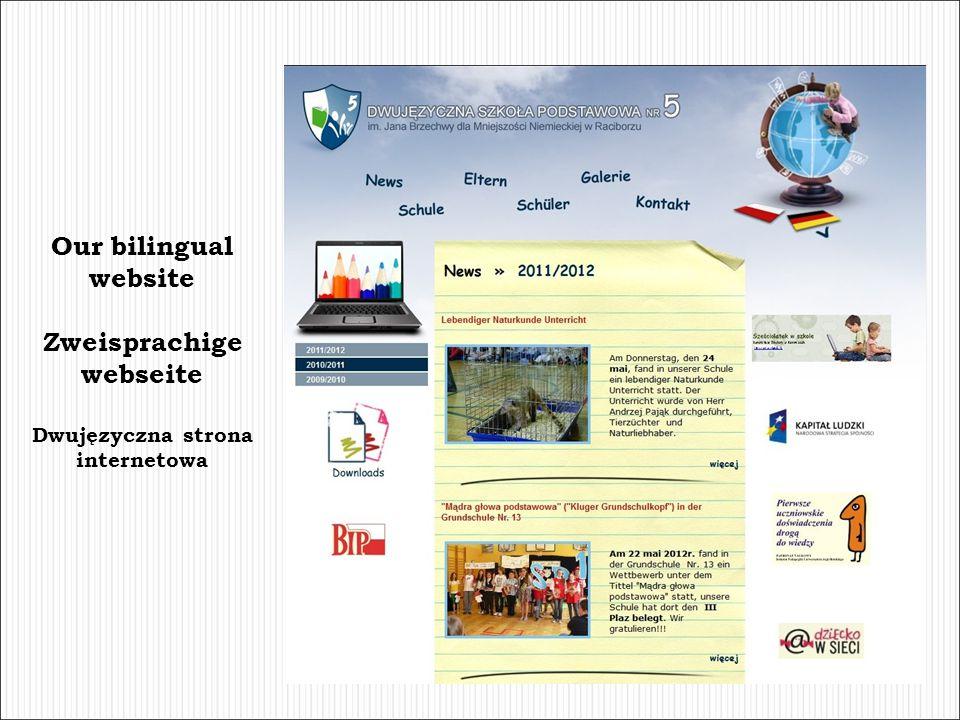 Zweisprachige webseite