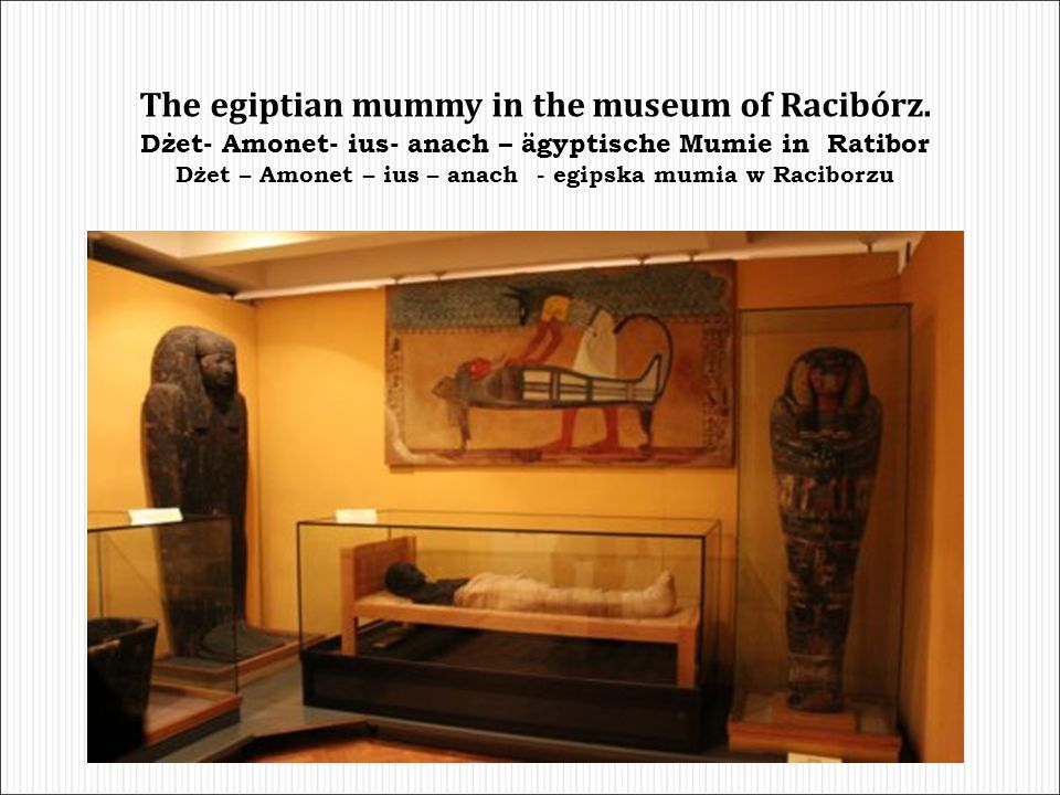 The egiptian mummy in the museum of Racibórz.