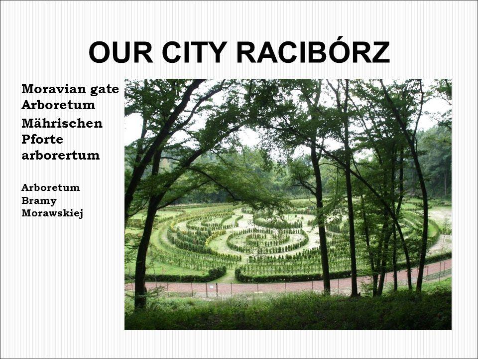 OUR CITY RACIBÓRZ Moravian gate Arboretum Mährischen Pforte arborertum