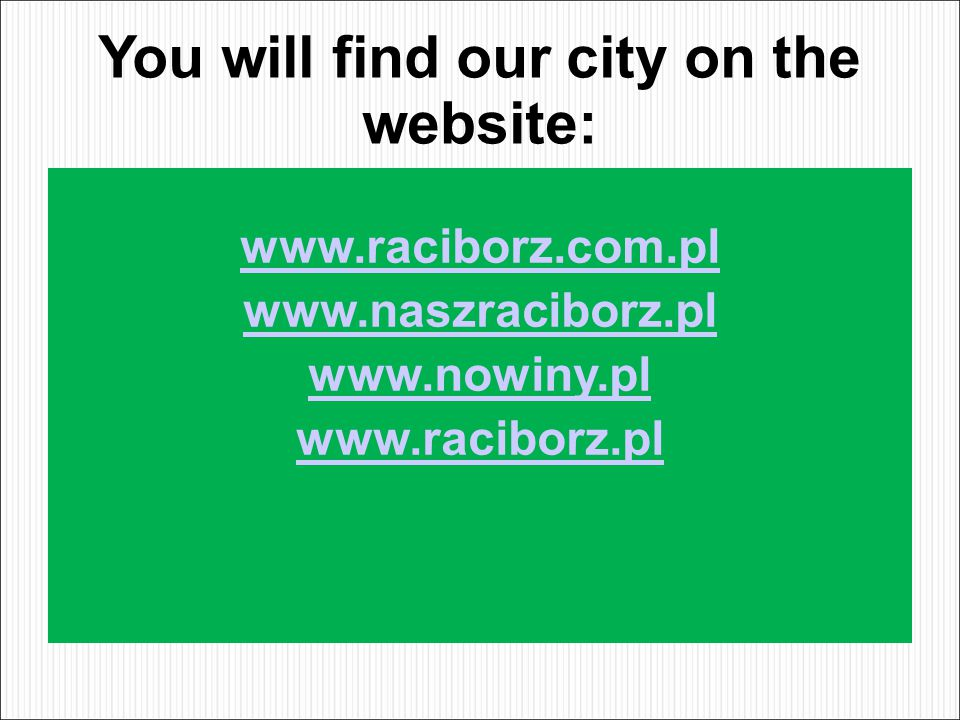 You will find our city on the website: