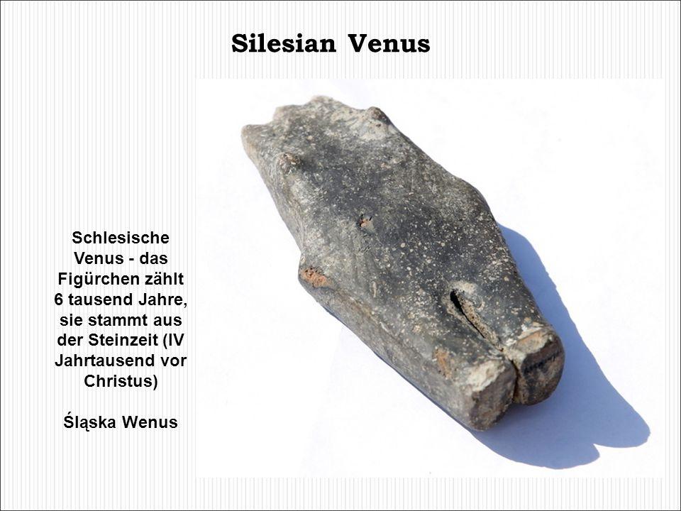Silesian Venus Schlesische Venus - das Figürchen zählt 6 tausend Jahre, sie stammt aus der Steinzeit (IV Jahrtausend vor Christus)