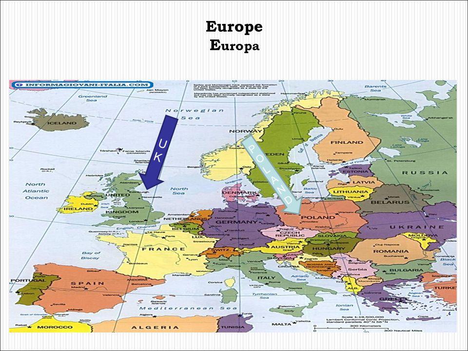 Europe Europa U K POLAND