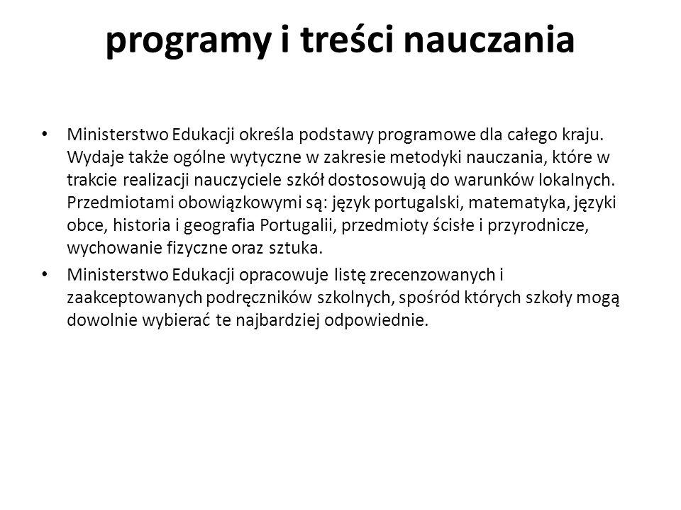 programy i treści nauczania