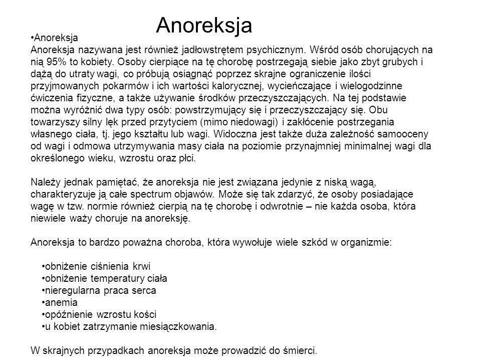 Anoreksja •Anoreksja.