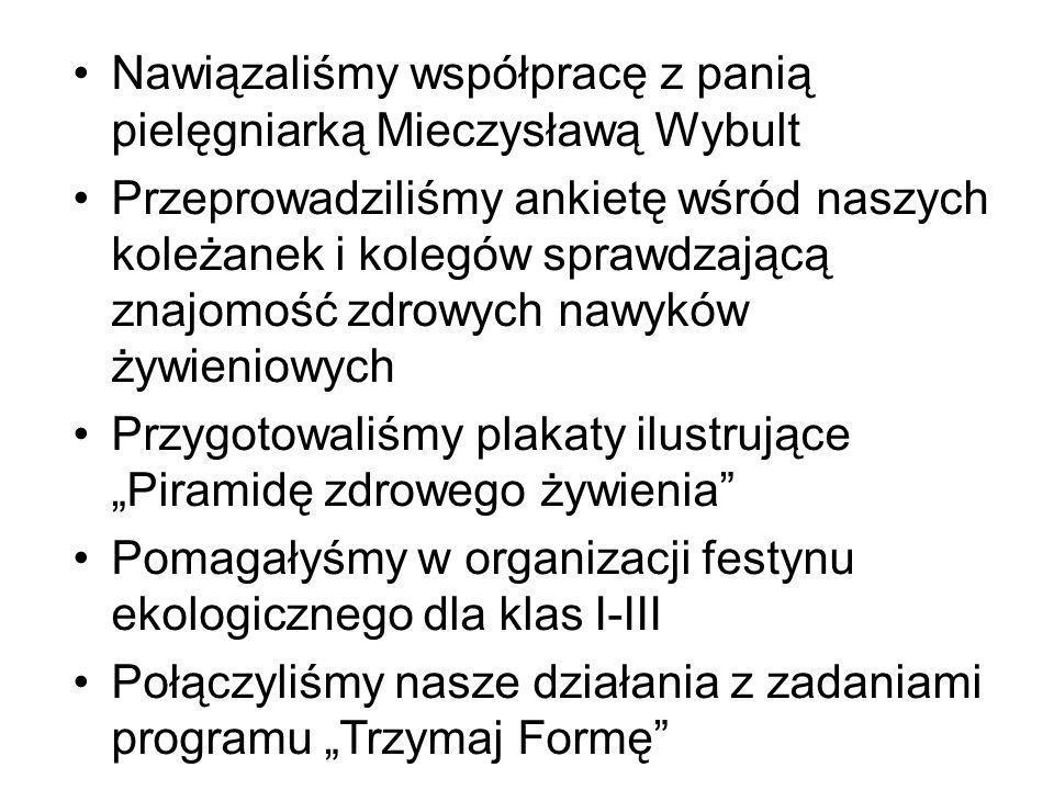 Nawiązaliśmy współpracę z panią pielęgniarką Mieczysławą Wybult