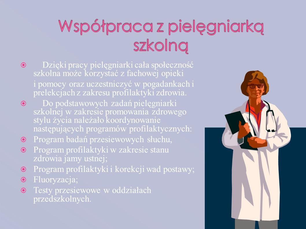 Współpraca z pielęgniarką szkolną