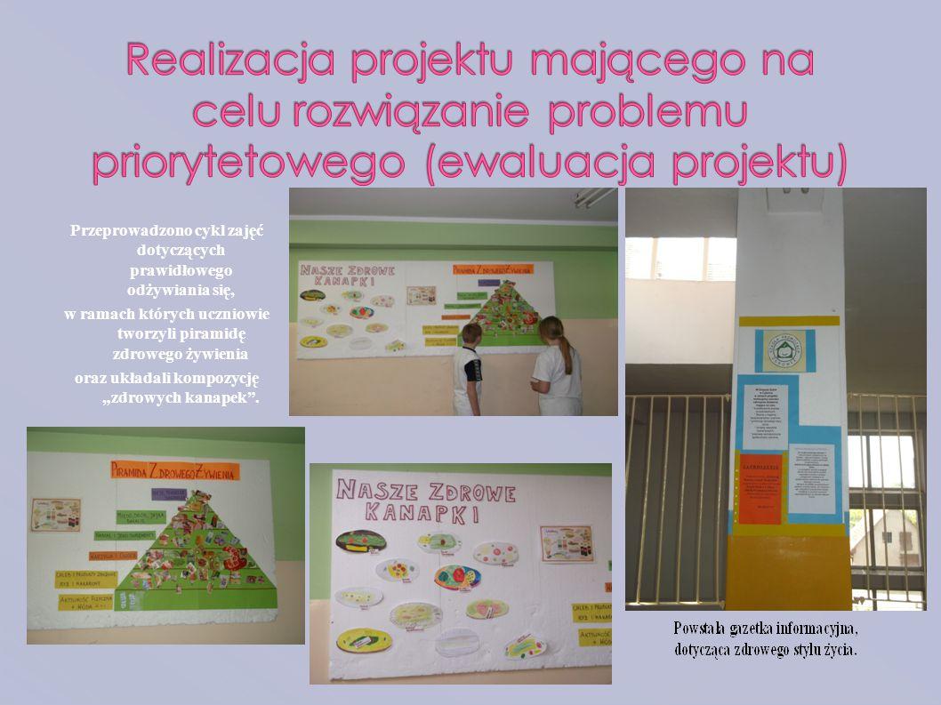Realizacja projektu mającego na celu rozwiązanie problemu priorytetowego (ewaluacja projektu)