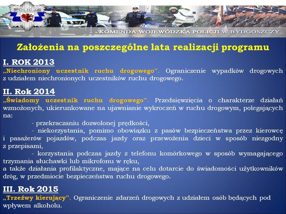 Założenia na poszczególne lata realizacji programu