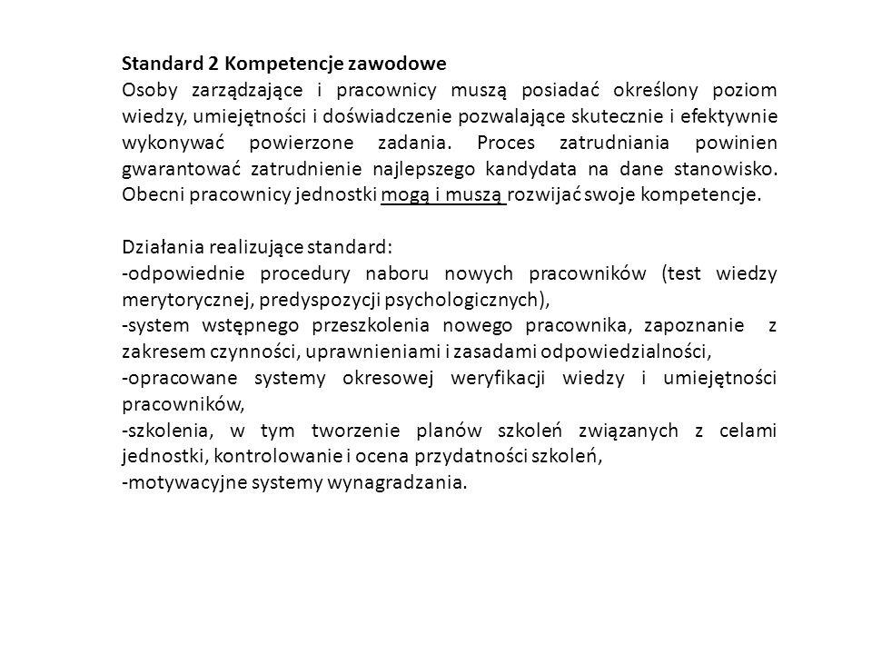 Standard 2 Kompetencje zawodowe