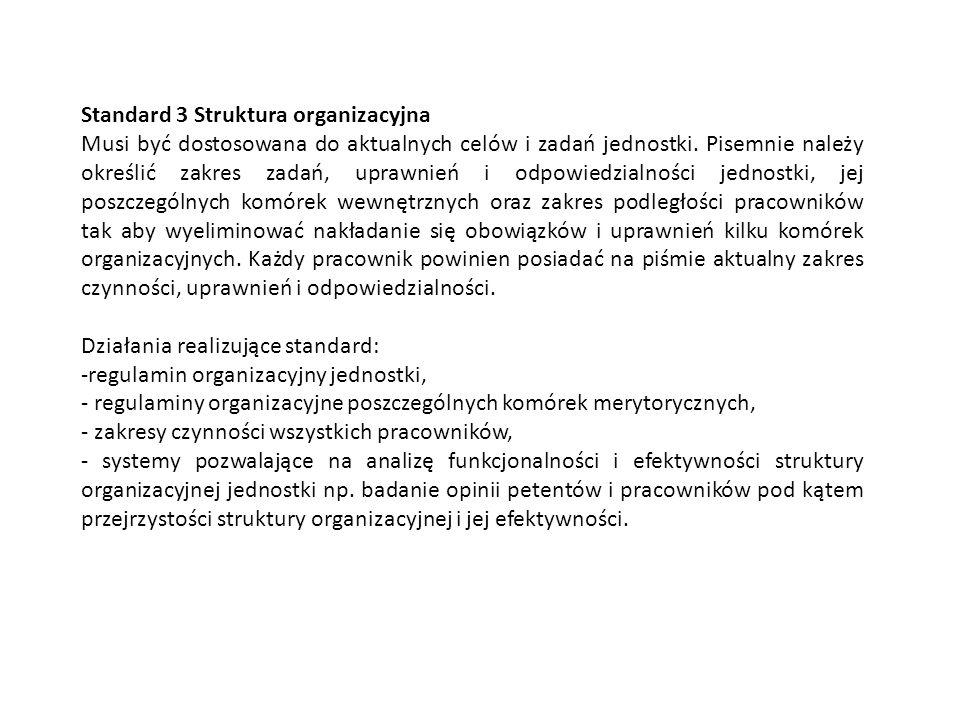 Standard 3 Struktura organizacyjna