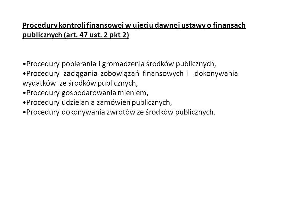 Procedury pobierania i gromadzenia środków publicznych,