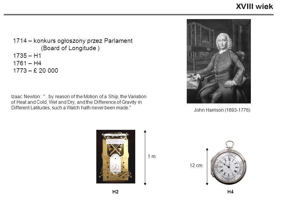 XVIII wiek 1714 – konkurs ogłoszony przez Parlament