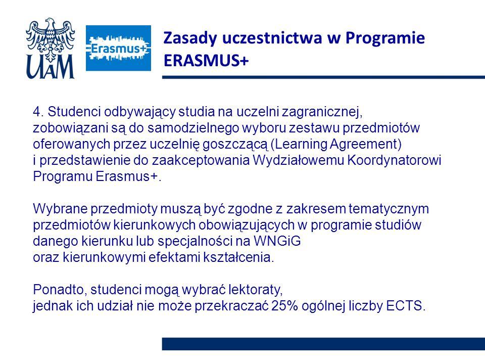 Zasady uczestnictwa w Programie ERASMUS+