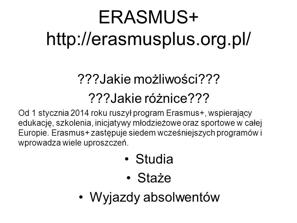 ERASMUS+ http://erasmusplus.org.pl/