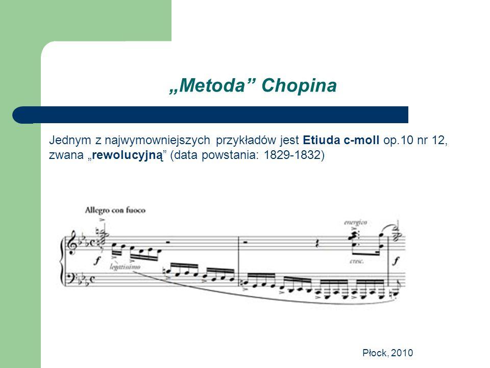 """""""Metoda Chopina Jednym z najwymowniejszych przykładów jest Etiuda c-moll op.10 nr 12, zwana """"rewolucyjną (data powstania: 1829-1832)"""