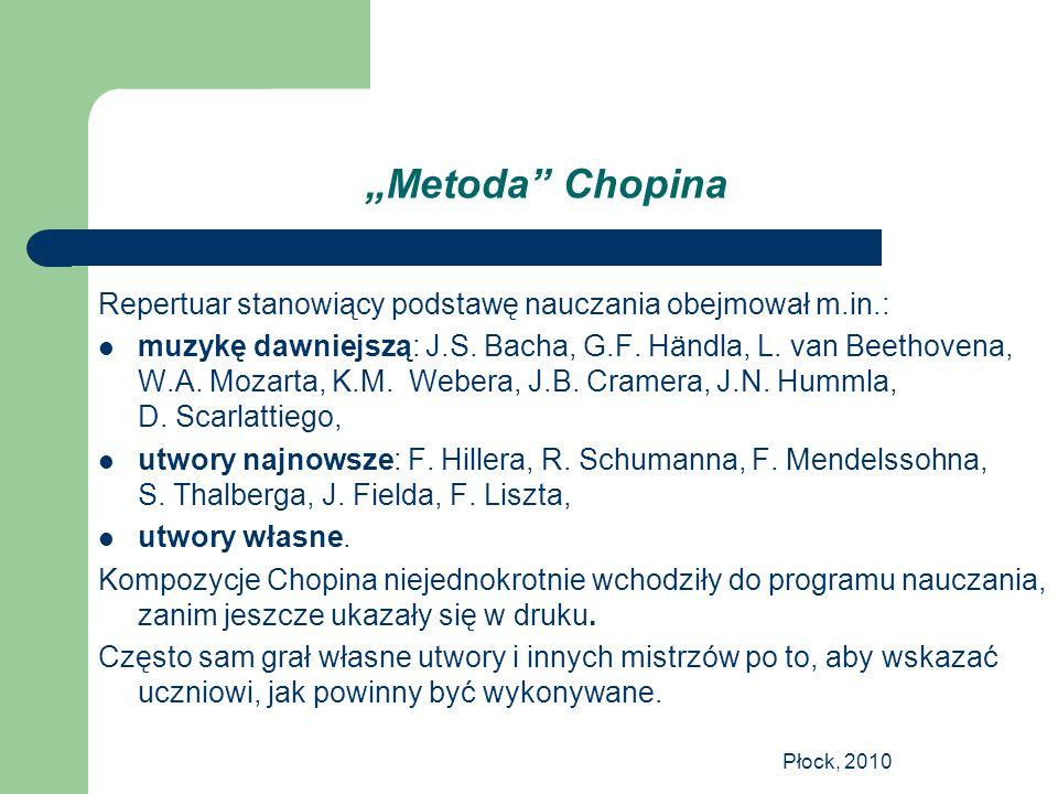 """""""Metoda Chopina Repertuar stanowiący podstawę nauczania obejmował m.in.:"""