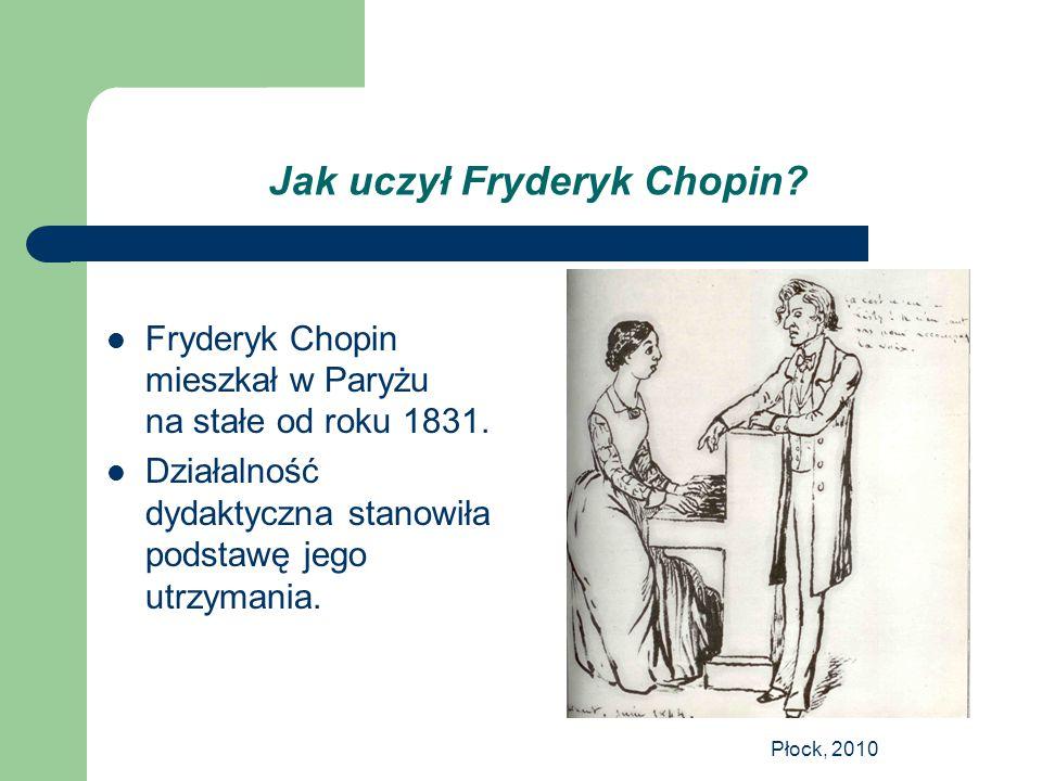 Jak uczył Fryderyk Chopin