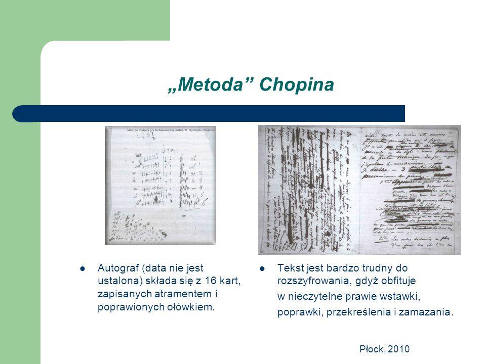 """""""Metoda Chopina Autograf (data nie jest ustalona) składa się z 16 kart, zapisanych atramentem i poprawionych ołówkiem."""