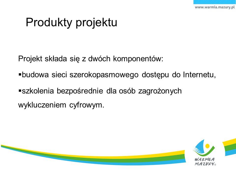 Produkty projektu Projekt składa się z dwóch komponentów: