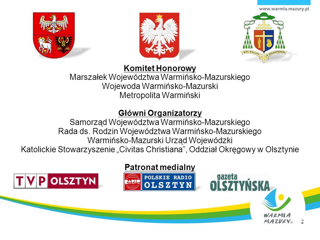 Komitet Honorowy Główni Organizatorzy Patronat medialny
