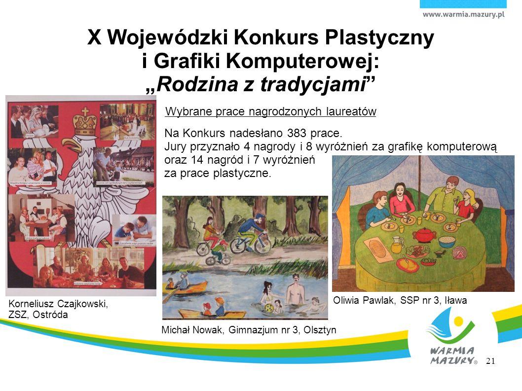 """X Wojewódzki Konkurs Plastyczny i Grafiki Komputerowej: """"Rodzina z tradycjami"""