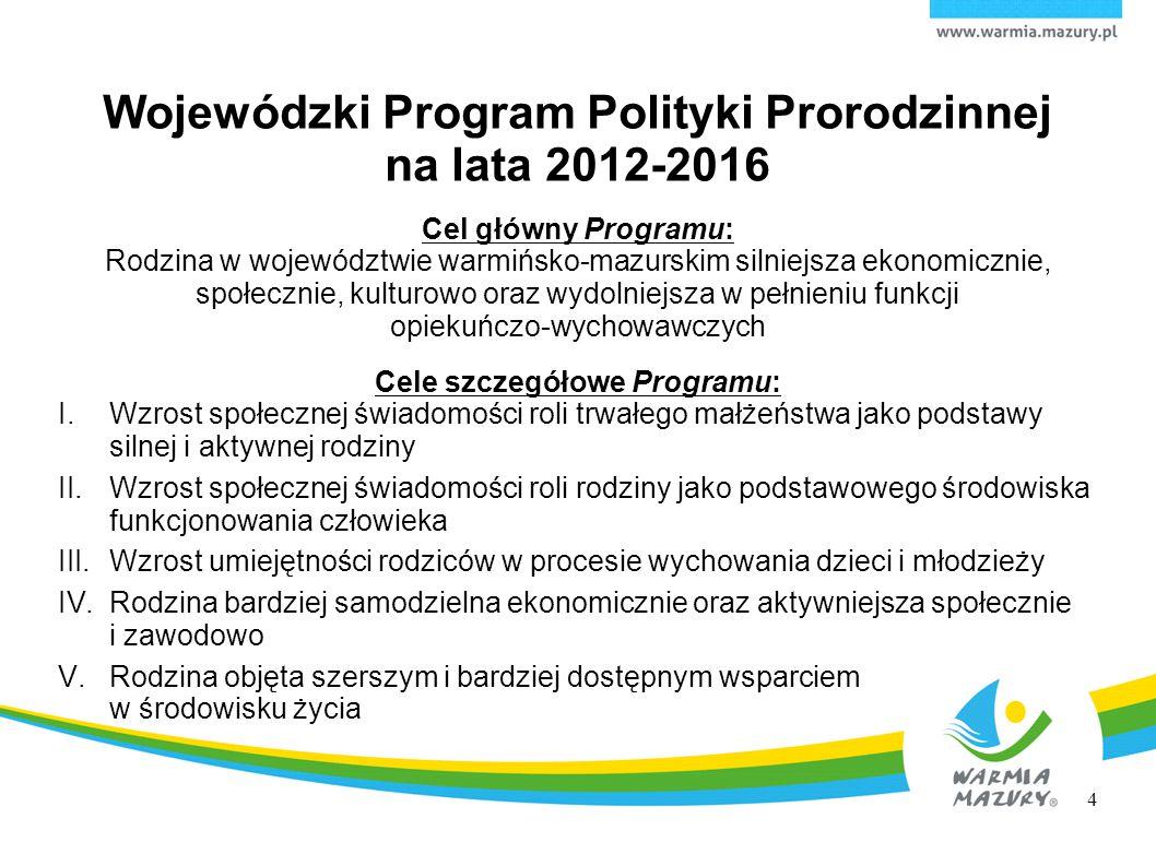 Wojewódzki Program Polityki Prorodzinnej na lata 2012-2016