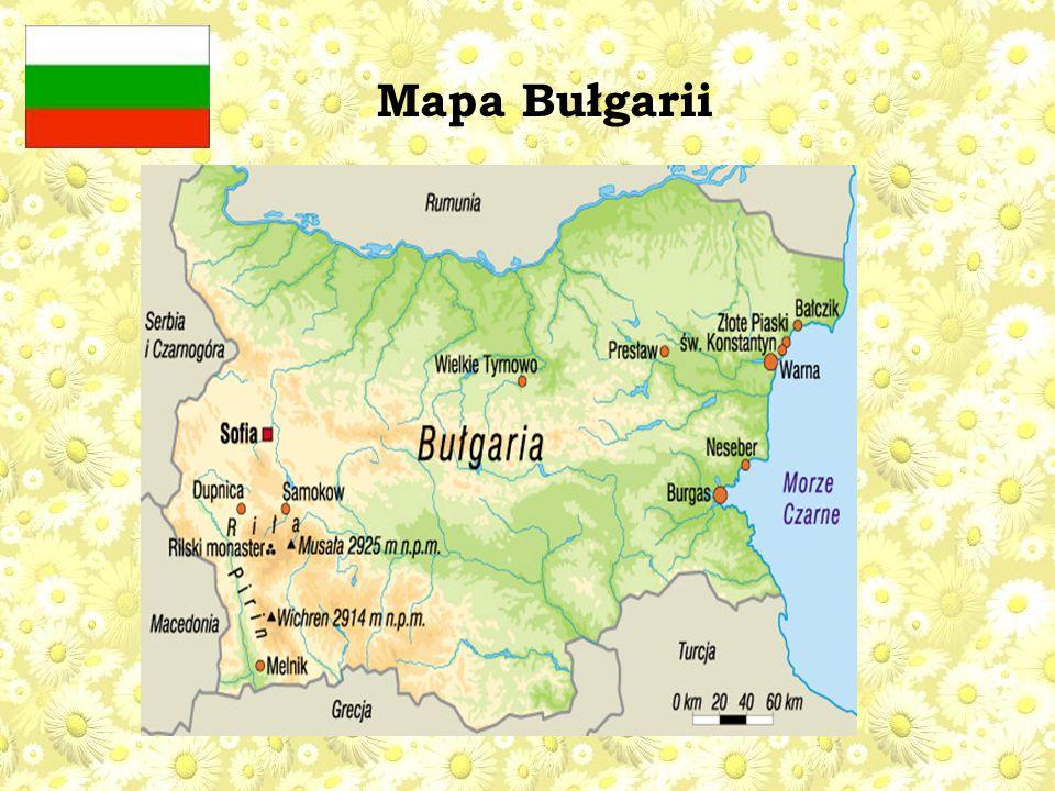 Mapa Bułgarii
