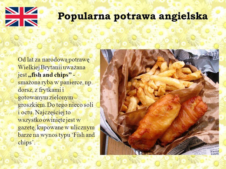 Popularna potrawa angielska