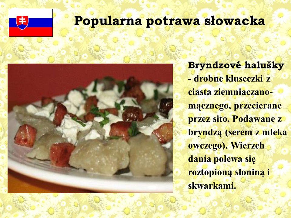 Popularna potrawa słowacka
