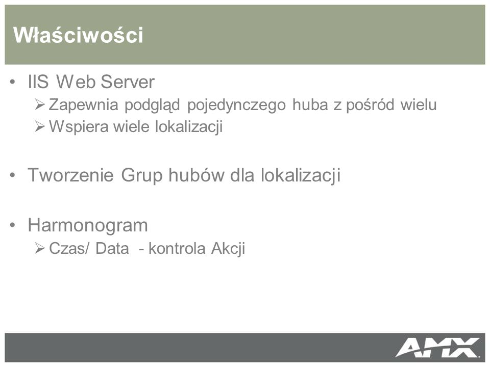 Właściwości IIS Web Server Tworzenie Grup hubów dla lokalizacji