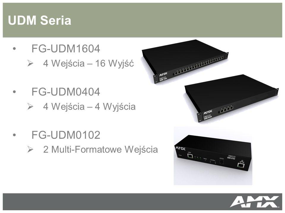 UDM Seria FG-UDM1604 FG-UDM0404 FG-UDM0102 4 Wejścia – 16 Wyjść