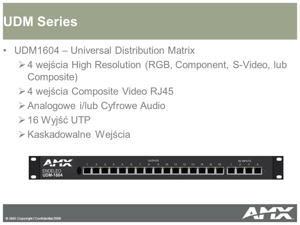 UDM Series UDM1604 – Universal Distribution Matrix