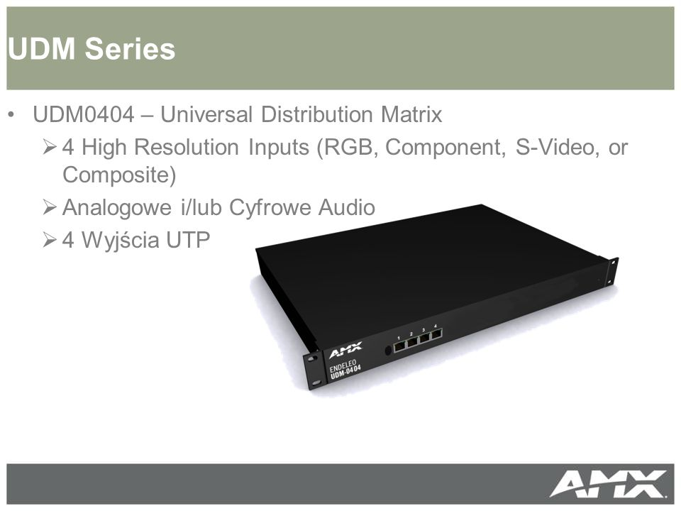 UDM Series UDM0404 – Universal Distribution Matrix